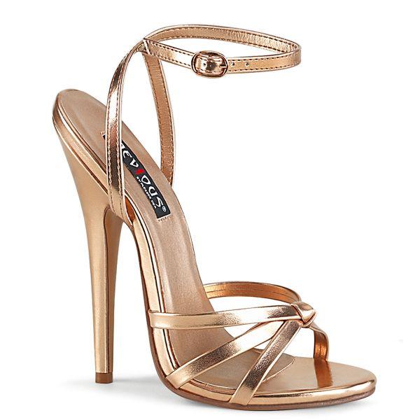 High-Heel Riemchen-Sandalette rosegold PU DOMINA-108